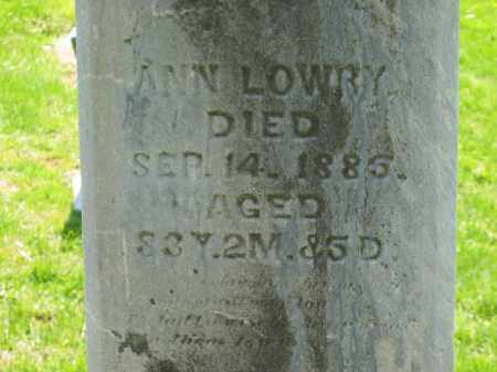 LOWRY, ANN - Delaware County, Ohio | ANN LOWRY - Ohio Gravestone Photos