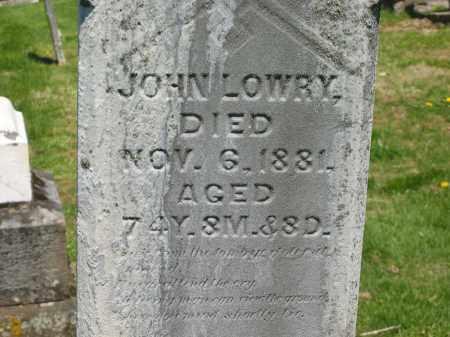 LOWRY, JOHN - Delaware County, Ohio | JOHN LOWRY - Ohio Gravestone Photos