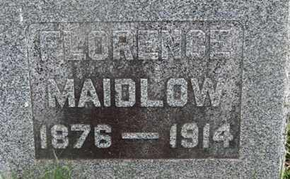 MAIDLOW, FLORENCE - Delaware County, Ohio | FLORENCE MAIDLOW - Ohio Gravestone Photos