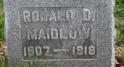 MAIDLOW, RONALD D. - Delaware County, Ohio | RONALD D. MAIDLOW - Ohio Gravestone Photos