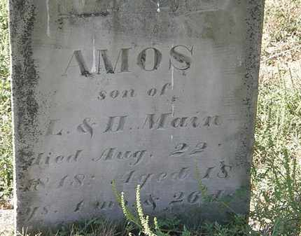 MAIN, AMOS - Delaware County, Ohio | AMOS MAIN - Ohio Gravestone Photos