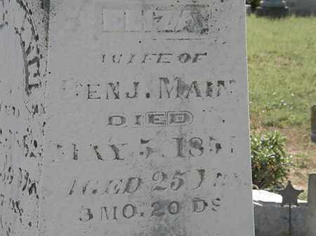 MAIN, BENJ. - Delaware County, Ohio | BENJ. MAIN - Ohio Gravestone Photos