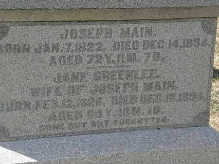 MAIN, JOSEPH - Delaware County, Ohio | JOSEPH MAIN - Ohio Gravestone Photos