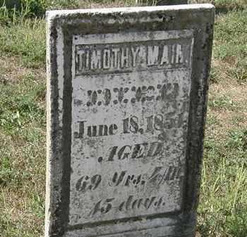 MAIN, TIMOTHY - Delaware County, Ohio   TIMOTHY MAIN - Ohio Gravestone Photos