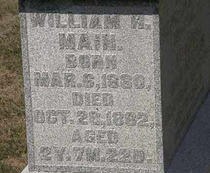 MAIN, WILLIAM H. - Delaware County, Ohio | WILLIAM H. MAIN - Ohio Gravestone Photos