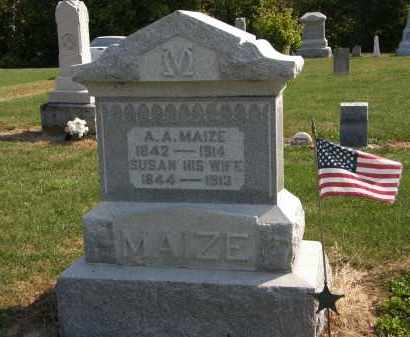 MAIZE, A.A. - Delaware County, Ohio | A.A. MAIZE - Ohio Gravestone Photos