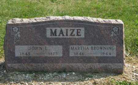 BROWNING MAIZE, MARTHA - Delaware County, Ohio | MARTHA BROWNING MAIZE - Ohio Gravestone Photos