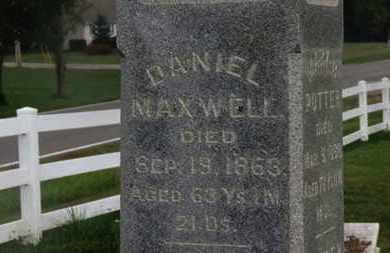 MAXWELL, DANIEL - Delaware County, Ohio | DANIEL MAXWELL - Ohio Gravestone Photos