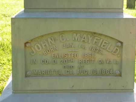MAYFIELD, JOHN C. - Delaware County, Ohio | JOHN C. MAYFIELD - Ohio Gravestone Photos