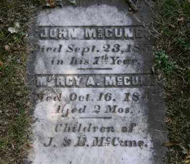 MCCUNE, MERCY A. - Delaware County, Ohio | MERCY A. MCCUNE - Ohio Gravestone Photos