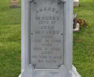 MCCURDY, AMANDA - Delaware County, Ohio | AMANDA MCCURDY - Ohio Gravestone Photos
