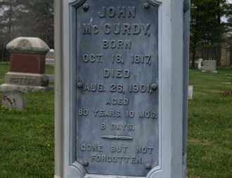 MCCURDY, JOHN - Delaware County, Ohio | JOHN MCCURDY - Ohio Gravestone Photos