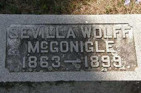 MCGONIGLE, SEVILLA WOLFF - Delaware County, Ohio | SEVILLA WOLFF MCGONIGLE - Ohio Gravestone Photos