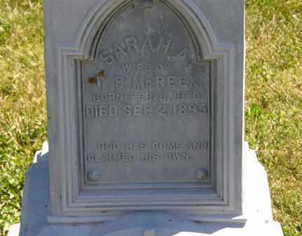 MCPEEK, SARAH A. - Delaware County, Ohio | SARAH A. MCPEEK - Ohio Gravestone Photos