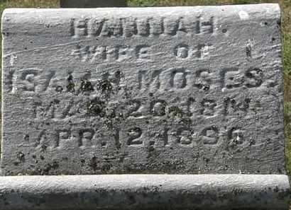 MOSES, HANNAH - Delaware County, Ohio | HANNAH MOSES - Ohio Gravestone Photos