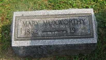 MUXWORTHY, MARY - Delaware County, Ohio | MARY MUXWORTHY - Ohio Gravestone Photos