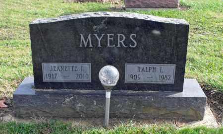 BOHAM MYERS, JEANETTE IRENE - Delaware County, Ohio | JEANETTE IRENE BOHAM MYERS - Ohio Gravestone Photos