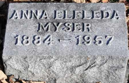 MYSER, ANNA ELFLEDA - Delaware County, Ohio | ANNA ELFLEDA MYSER - Ohio Gravestone Photos