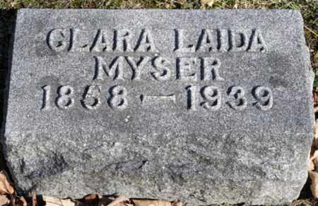 MYSER, CLARA LAIDA - Delaware County, Ohio | CLARA LAIDA MYSER - Ohio Gravestone Photos