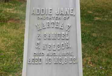 NELSON, ADDIE JANE - Delaware County, Ohio | ADDIE JANE NELSON - Ohio Gravestone Photos