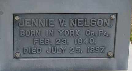 NELSON, JENNIE V. - Delaware County, Ohio | JENNIE V. NELSON - Ohio Gravestone Photos