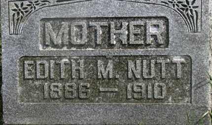 NUTT, EDITH M. - Delaware County, Ohio   EDITH M. NUTT - Ohio Gravestone Photos
