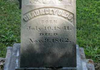 OLDS, CHAUNCEY - Delaware County, Ohio | CHAUNCEY OLDS - Ohio Gravestone Photos