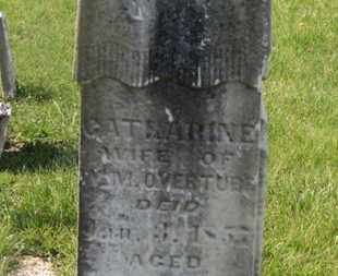 OVERTURF, CATHARINE - Delaware County, Ohio | CATHARINE OVERTURF - Ohio Gravestone Photos