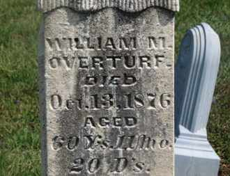 OVERTURF, WILLIAM F. - Delaware County, Ohio | WILLIAM F. OVERTURF - Ohio Gravestone Photos