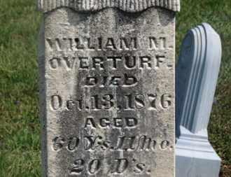 OVERTURF, WILLIAM F. - Delaware County, Ohio   WILLIAM F. OVERTURF - Ohio Gravestone Photos