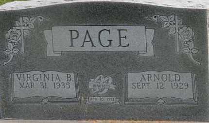 PAGE, ARNOLD - Delaware County, Ohio | ARNOLD PAGE - Ohio Gravestone Photos