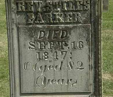 PARKER, REV. STILES - Delaware County, Ohio | REV. STILES PARKER - Ohio Gravestone Photos