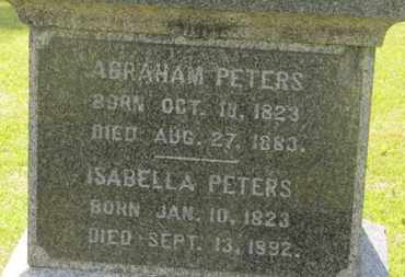 PETERS, ISABELLA - Delaware County, Ohio | ISABELLA PETERS - Ohio Gravestone Photos