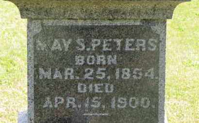 PETERS, MAY S. - Delaware County, Ohio | MAY S. PETERS - Ohio Gravestone Photos
