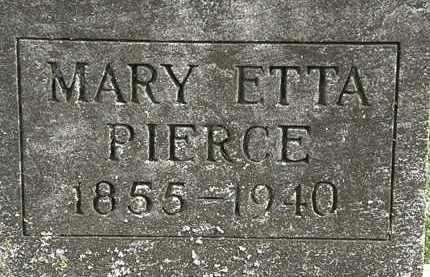 PIERCE, MARY ETTA - Delaware County, Ohio | MARY ETTA PIERCE - Ohio Gravestone Photos