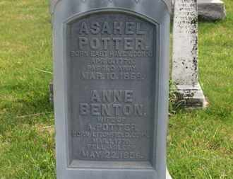 BENTON POTTER, ANNE - Delaware County, Ohio | ANNE BENTON POTTER - Ohio Gravestone Photos