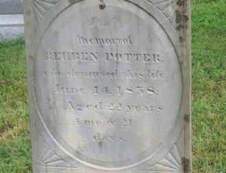 POTTER, REUBEN - Delaware County, Ohio | REUBEN POTTER - Ohio Gravestone Photos
