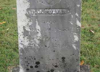 POTTER, R.J. - Delaware County, Ohio | R.J. POTTER - Ohio Gravestone Photos