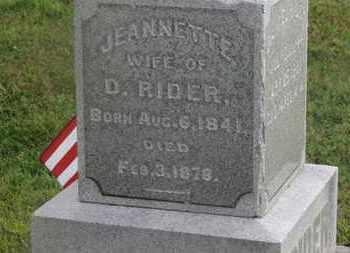 RIDER, JEANNETTE - Delaware County, Ohio | JEANNETTE RIDER - Ohio Gravestone Photos