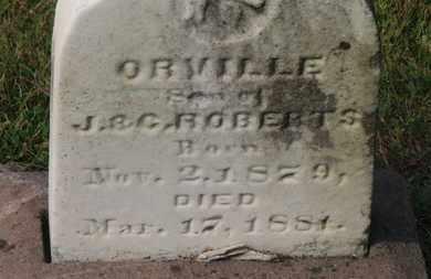 ROBERTS, ORVILLE - Delaware County, Ohio | ORVILLE ROBERTS - Ohio Gravestone Photos