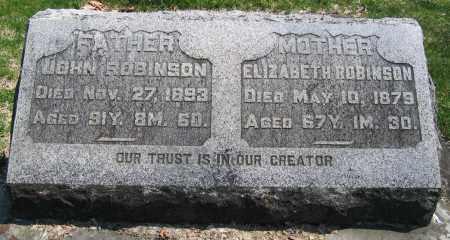 ROBINSON, ELIZABETH - Delaware County, Ohio | ELIZABETH ROBINSON - Ohio Gravestone Photos