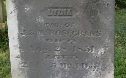 ROSECRANS, LYDIA - Delaware County, Ohio | LYDIA ROSECRANS - Ohio Gravestone Photos