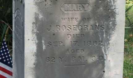 ROSECRANS, MARY - Delaware County, Ohio | MARY ROSECRANS - Ohio Gravestone Photos