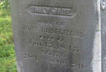 ROSECRANS, SALLY JANE - Delaware County, Ohio | SALLY JANE ROSECRANS - Ohio Gravestone Photos