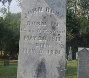 ROWE, JOHN - Delaware County, Ohio | JOHN ROWE - Ohio Gravestone Photos