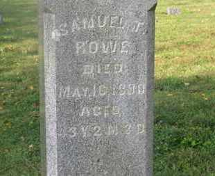 ROWE, SAMUEL T. - Delaware County, Ohio | SAMUEL T. ROWE - Ohio Gravestone Photos