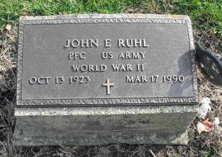 RUHL, JOHN E. - Delaware County, Ohio | JOHN E. RUHL - Ohio Gravestone Photos
