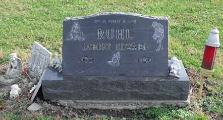 RUHL, ROBERT EDWARD - Delaware County, Ohio | ROBERT EDWARD RUHL - Ohio Gravestone Photos