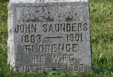 SAUNDERS, FLORENCE - Delaware County, Ohio | FLORENCE SAUNDERS - Ohio Gravestone Photos
