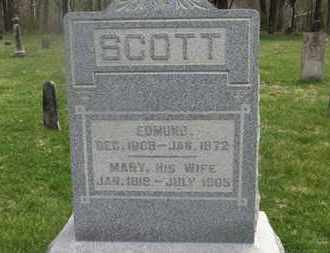 SCOTT, EDMUND - Delaware County, Ohio | EDMUND SCOTT - Ohio Gravestone Photos